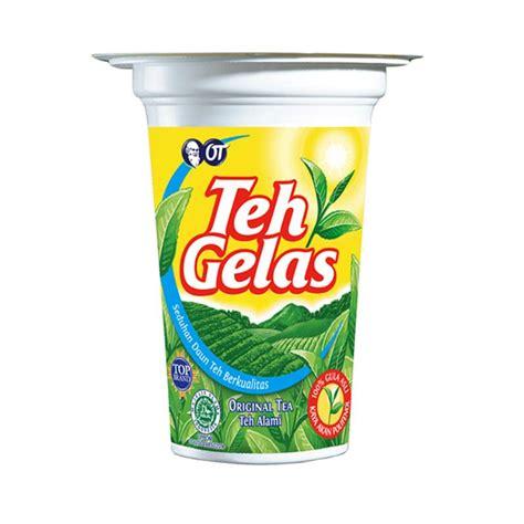 Teh Gelas Di Indo jual teh gelas original cup minuman teh instant 180 ml 24