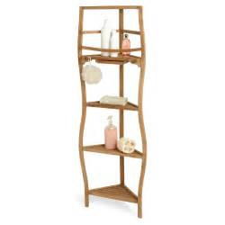 Bathroom Corner Shelving 59 Quot Teak Corner Bath Shelf With Curved Legs Shower Caddies Bathroom Accessories Bathroom