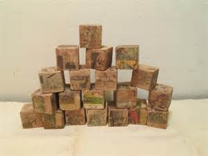 antique childrens wood blocks omero home