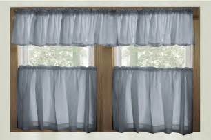 wedgewood blue color tier kitchen curtain two panel set