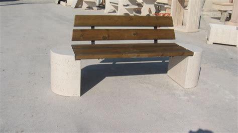 panchina cemento panchina in legno e cemento pastore prefabbricati