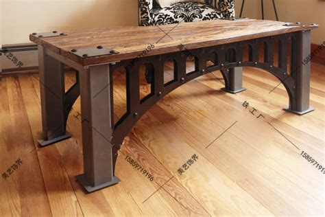 Industrial Loft Furniture by American Industrial Furniture Loft Vintage Wrought Iron Coffee Table Made Of Solid