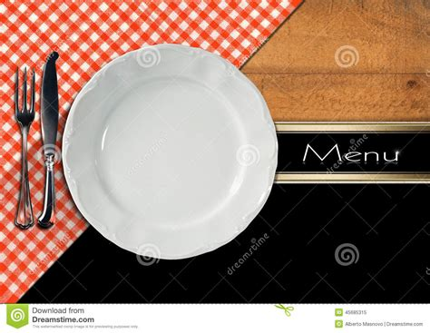 Template For Kitchen Design Restaurant Menu Design Stock Illustration Image 45685315