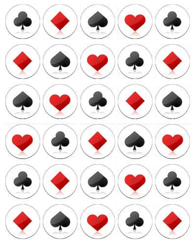 printable card suits 30 x playing card poker suits party cup cake toppers