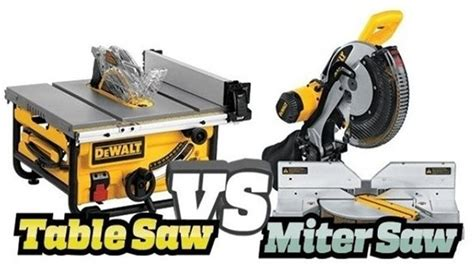 table saw miter miter saw vs table saw which one is the best saw