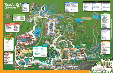 park map busch gardens ta bay