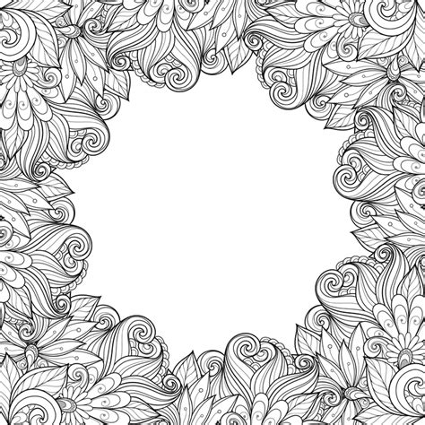 coloring page borders zinnia border coloring coloring pages