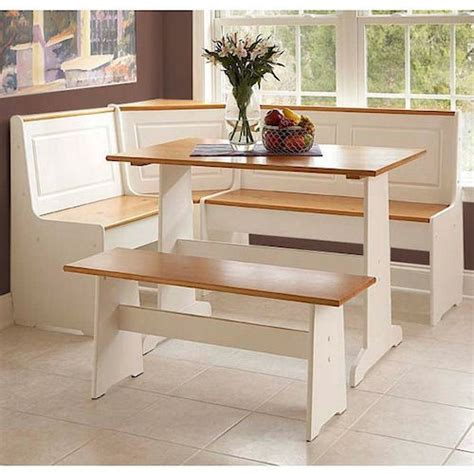 Kitchen Table Nook Dining Set Kitchen Breakfast Nook Dining Set Corner Booth Cottage Dinette Wood Table Bench Ebay