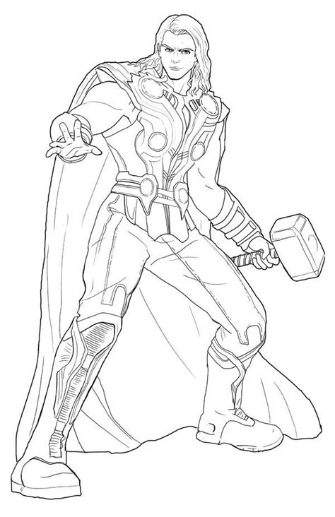 Thor Coloring Pages Pdf | 14 kids coloring pages thor print color craft