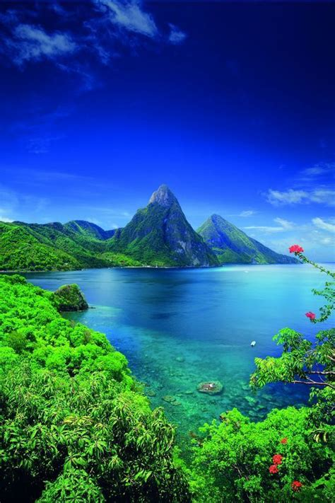 five most amazing colorful beaches of the world saint lucia caribbean pictures photos and images for