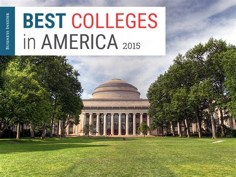 Best Mba Schools In America by Best Colleges In America Methodology 2015 Business Insider
