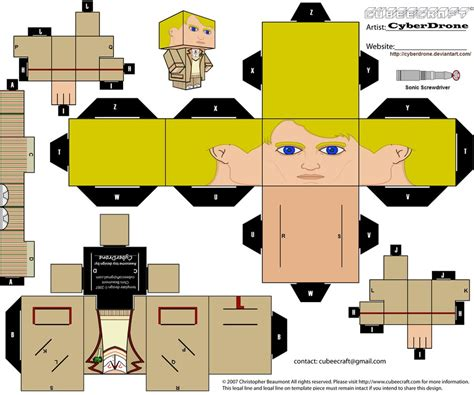 Cubee Papercraft - cubee the 5th doctor by cyberdrone on deviantart