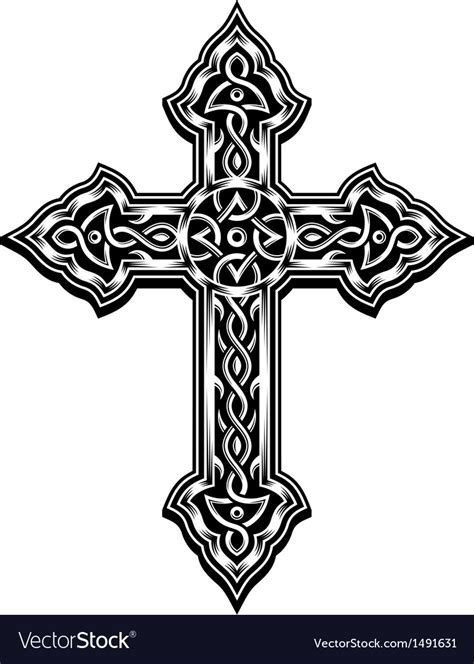 cross tattoo prices ornate christian cross royalty free vector image