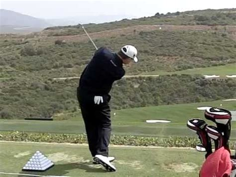 golf swing down the line view 5 iron golf swing down the line view with slow motion