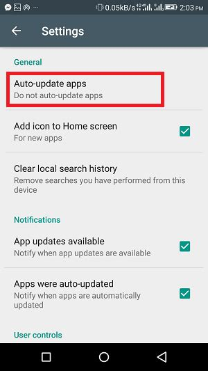 Play Store Settings How To Get Mobile App Update On Android