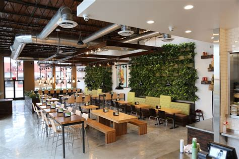 Cedar Table Green Walls Extend Green Welcome To Brome Restaurant S Guests