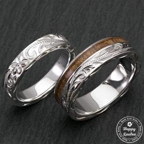 Wedding Bands Hawaii by Happy Laulea Handmade Wedding Rings Koa Wood Wedding Rings