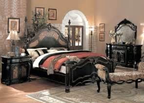 capelle luxury bedroom furniture set black marble tops