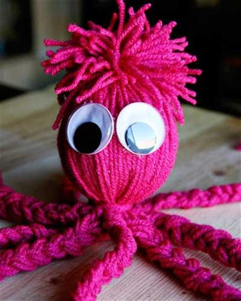diy yarn crafts diy octopus yarn doll craft think crafts by createforless