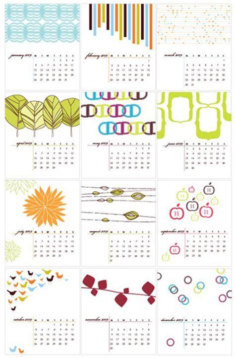 design blog calendar 2009 calendars everywhere paper crave