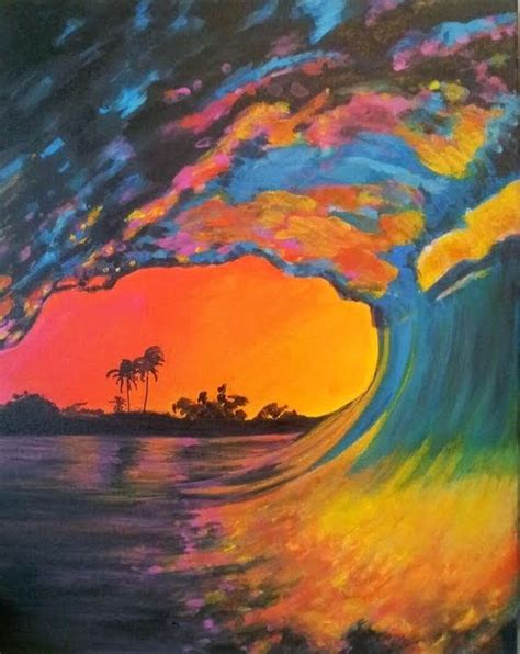 cool paintings all is best acrylic painting called pink wave great