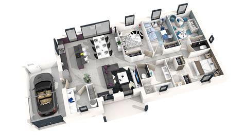 plan chambre 3d plan de maison moderne 4 chambres 3d qq89 jornalagora