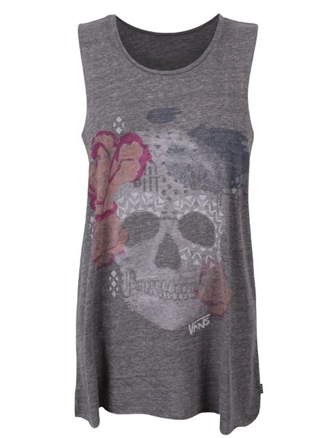 Kaos Tshirt Vans Skull vans sketchy skull sleeveless t shirt buy at grindstore