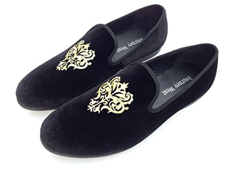 mens slippers loafers s vintage velvet embroidery noble loafer shoes