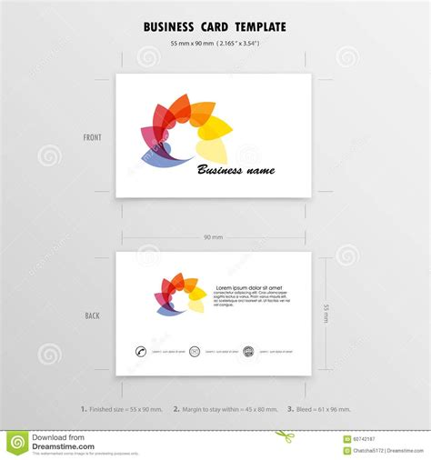 business card size illustrator template business cards size template business card idea business