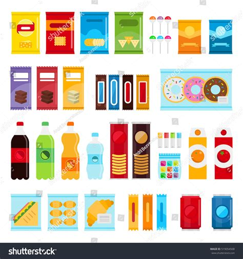 shutterstock design elements and layout vector pack vending machine product items set vector stock vector