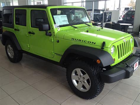 Neon Green Jeep Wrangler Gecko Green Jeep Wrangler Rubicon Autos Post