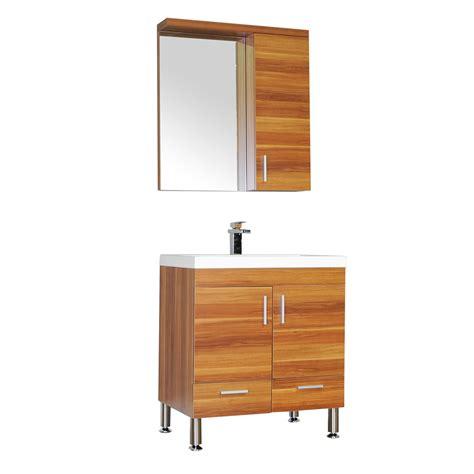 alya     single modern bathroom vanity cherry