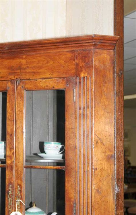 cherry wood corner cabinet farmhouse cherry wood corner cabinet display bookcase ebay