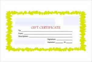 customizable certificate template blank gift voucher template free