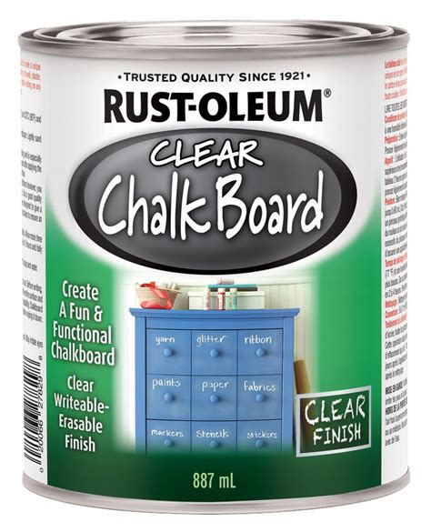 chalk paint home depot canada rustoleum rustoleum specialty clear chalkboard the home