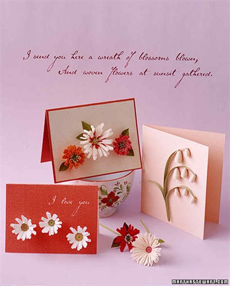 How To Make Paper Cards - how to make quilled cards martha stewart