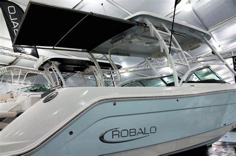 used robalo boats robalo sureshade