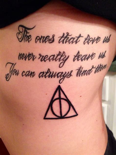 different styles of tattoos my sirius black quote with the deathly hallows