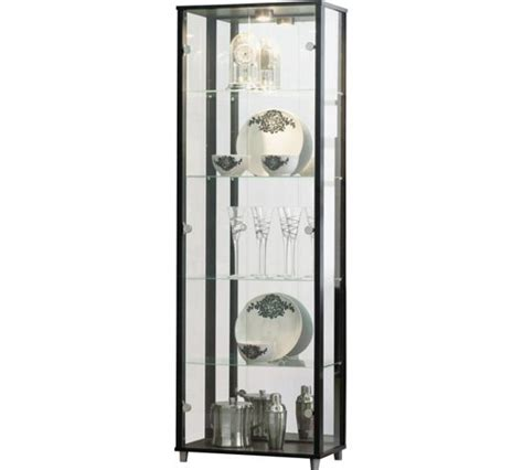 Glass Cabinet Argos by Buy Home Glass Door Display Cabinet Black At