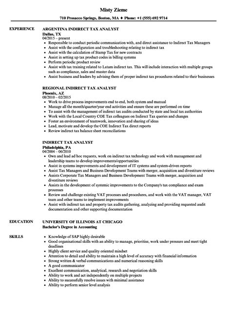 Tax Analyst Resume Objective by Tax Analyst Resume Sle Resume Ideas