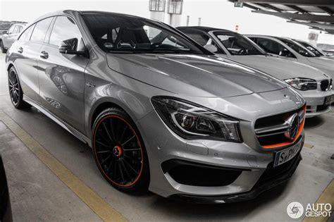 Cla 45 Amg Shooting Brake Tieferlegung by Mercedes Benz Cla 45 Amg Shooting Brake Orangeart Edition