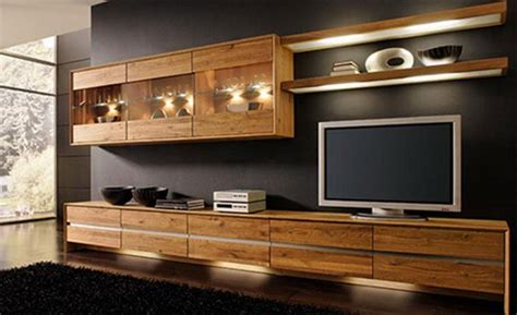 entertainment center design wood furniture to create a stylish modern interior