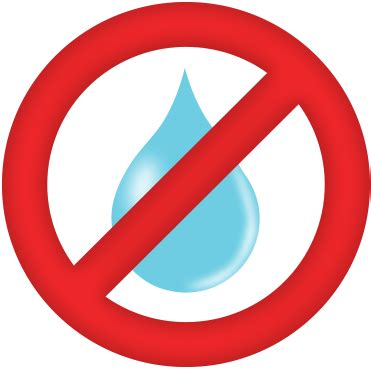no water sign clipart best