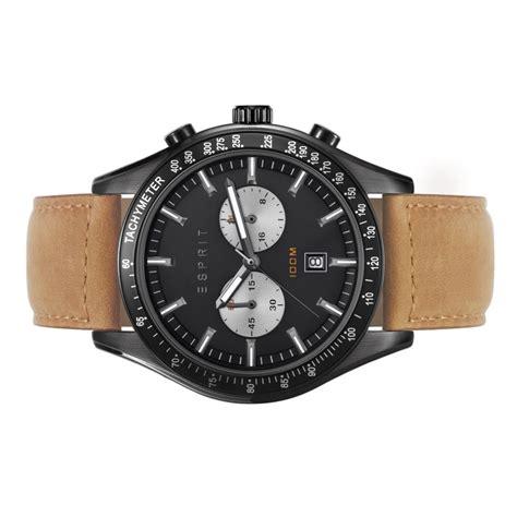 Esprit Es108241004 esprit herren uhr armbanduhr leder chrono es108241004