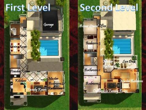 Sims 3 Mansion Floor Plans Mod The Sims Malibu Town House