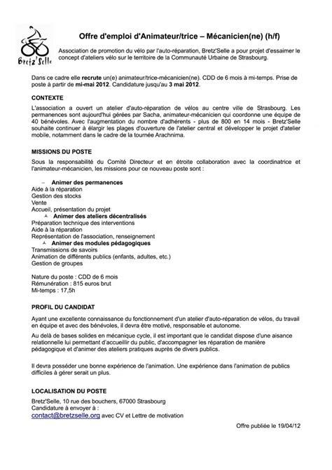 Bretz Selle Calendrier Bretzselle Fiche De Poste Animation Pdf Association
