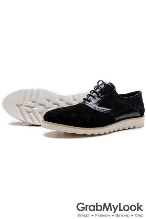 mens black sneakers with white soles black patent suede leather lace up white sole mens oxford