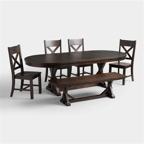 world market tables and chairs rustic brown brooklynn dining collection world market