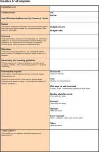 Free creative brief template 1 doc pdf 4 page s