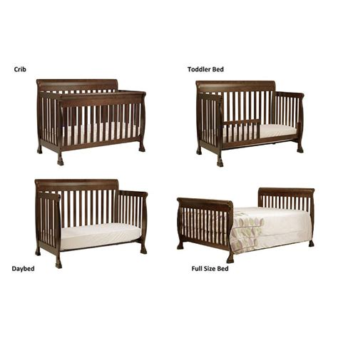 Crib Bed Convertible Davinci Kalani 4 In 1 Convertible Crib With Toddler Rail Espresso Stables Toddler Bed And Home